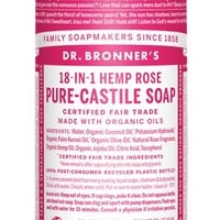 Dr Bronner's Rose Castile Liquid Soap | Healthstuff.co.uk