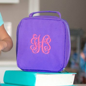 Purple Monogrammed Lunch Box