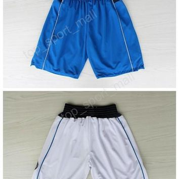 Dallas Men 41 Dirk Nowitzki Basketball Pant Breathable 5 J.J Barea Shorts Team Color Blue White Embroidery Running Short