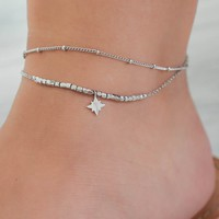 NORTHERN STAR ANKLET - SILVER