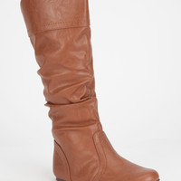 Soda Basal Girls Boots Cognac  In Sizes