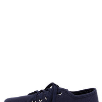 Step Rally Navy Blue Lace-Up Sneakers