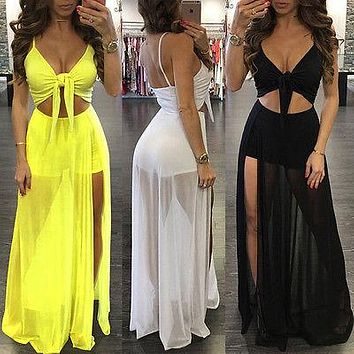 Women Summer Boho Long Maxi Dress Evening  Party Beach Dresses Sundress Sexy Ladies Womens Sundress