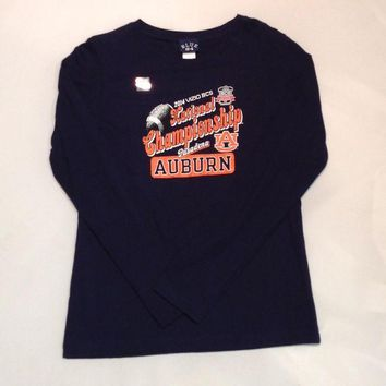 ESBON NCAA Auburn Tigers 2014 National Championship Women's Long Sleeve T-Shirt