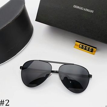 GIORGIO ARMANI 2018 new trend driving men's big box sunglasses #2