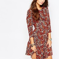 New Look Winter Floral Skater Dress at asos.com