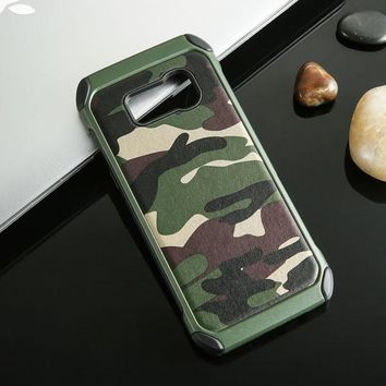 Luxury Army Camo Camouflage Hybrid Phone Cases For Samsung Galaxy S8 S8 Plus