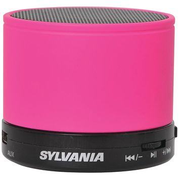 Sylvania SP631-PINK Bluetooth(R) Portable Speaker (Pink)
