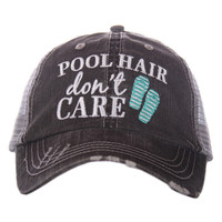 Pool Hair, Don't Care Trucker Hat - 3 Colors