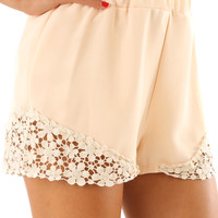 Good As Gone Shorts: Cream
