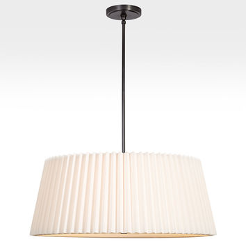 Barton 30in. Pleated Drum Pendant
