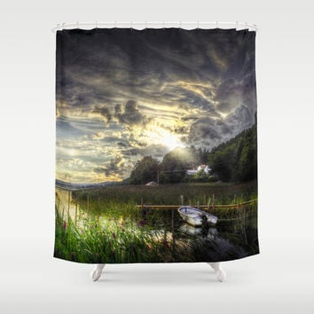 Divine Shower Curtain by HappyMelvin