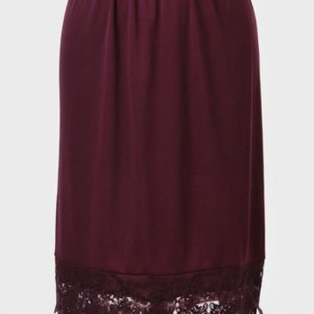 Bonaparte Half Slip In Burgundy