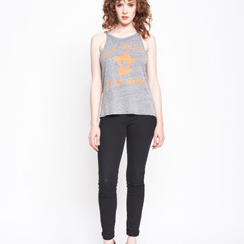 God Bless John Wayne - Halter Tank - Heather Grey