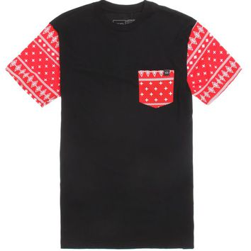 Young & Reckless Rad Dana Pocket T-Shirt - Mens Tee - Red -