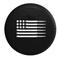AR15 5.56 .223 Rifle Bullets American Flag Gun Rights , Jeep, RV, Camper, Spare, Tire, Cover