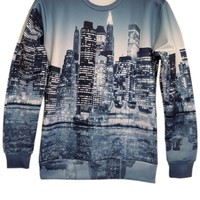 Nightly Building Print Sweatshirt