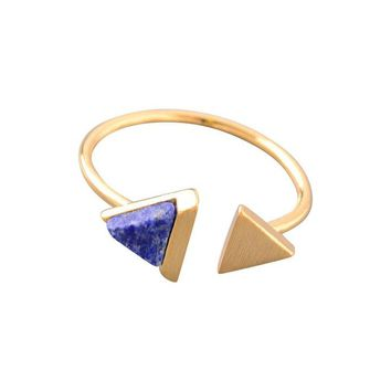 Avery Pointed Stone Ring