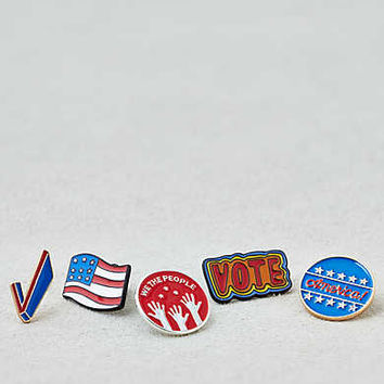 AEO Rock The Vote Pins, Multi