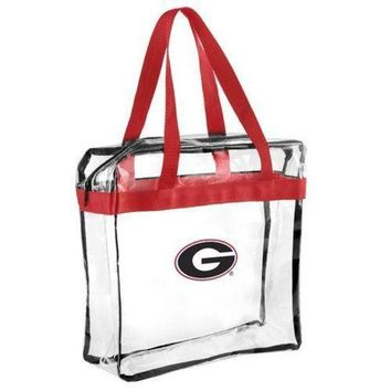 ESBON NCAA Georgia Bulldogs Forever Collectibles Clear Hand Tote Bag