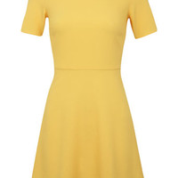 Petites Yellow Crepe Dress - View All - New In