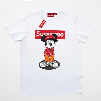Cheap Women's and men's supreme t shirt for sale 85902898_0136