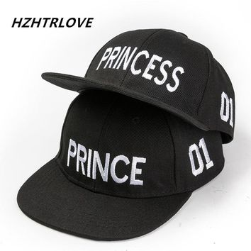 Trendy Winter Jacket Hot Sale PRINCE PRINCESS Embroidery Boys Girls Snapback Hat Couple Baseball Cap Gifts For Children Fashion Hip-hop Caps AT_92_12