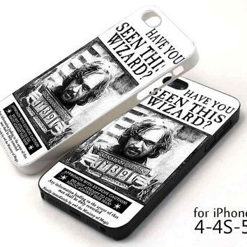 Sirius Black Wanted Poster iPhone case, iPhone 5/5c/5s case, iPhone 4/4s case, Samsung Galaxy s3/s4 case cover