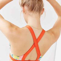 Without Walls Floral Print Crisscross Sports Bra - Urban Outfitters