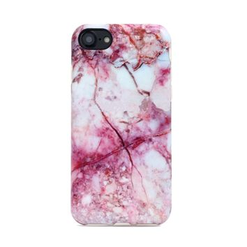 Marble Case for iPhone 8 / 7 - Pink Lava