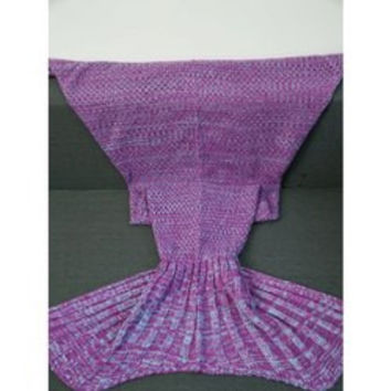 Super Soft Crochet Yarn Knitted Fish Tail Shape Blanket