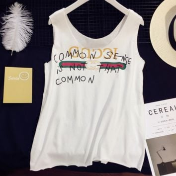 Gucci fashion women sleeveless vest tops