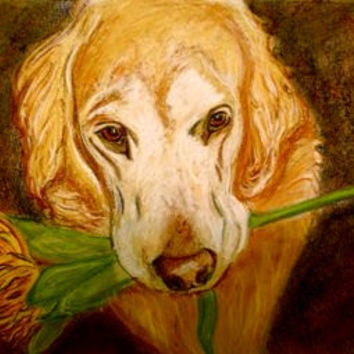 Original Pet Portrait Custom Art from your photo & Support Rescue Orgs