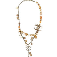 CC Crystal Double Strand Necklace