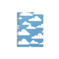 white clouds across a blue sky spiral notebook from Zazzle.com