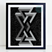 Abstract Printable Art, Scandinavian Art, Geometry, Instant Download, Geometric Wall Decor, Gift For Him, Abstract Decor Poster, Dorm Decor