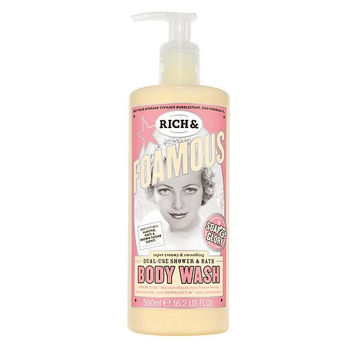 Soap & Glory Rich & Foamous Dual-Use Shower & Bath Body Wash, Almond, Oats & Brown Sugar 16.2 oz (500 ml) (Pack of 1)