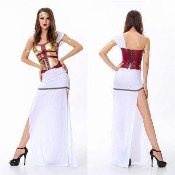 DCCKIX3 Halloween Costume White Prom Dress [9220651716]
