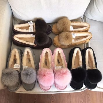 UGG hot winter doudou shoes fashion ladies and fuzzy ball steamed stuffed shoes