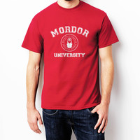 Mordor University Lord Of The Ring Men Shirt size S to 2XL Color Red