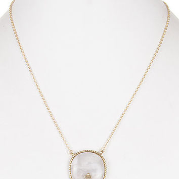 SEMIPRECIOUS STONE WITH CUTE ANCHOR ACCENT NECKLACE