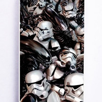 Star Wars Stormtroopers Darth Vader Crossovers Aliens for Iphone 5 / 5s Hard Cover Plastic
