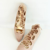 Pirouette Lace Up Flats
