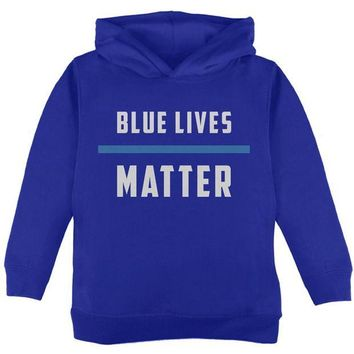 DCCKU3R Police Blue Lives Matter Thin Blue Line Toddler Hoodie