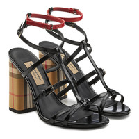 Anthea Leather Sandals - Burberry | WOMEN | KR STYLEBOP.COM