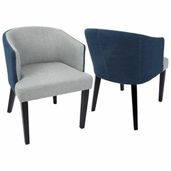 Ashland Contemporary Dining / Accent Chair in Light Grey and Blue by LumiSource