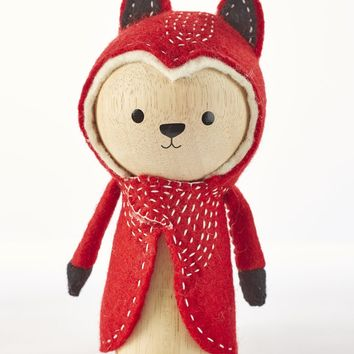 Abe the Fox - Wooden Animal Dolls by ZooModern