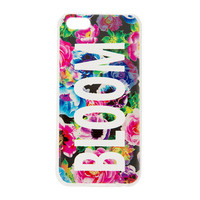 Cut Out Bloom Floral Design Cover for iPhone 5c