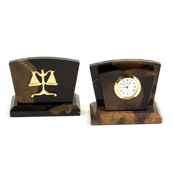 """Legal"" Clock/ Letter Rack, T.P."