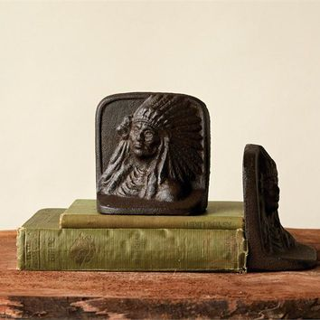 Cast Iron Indian Bookends By Creative Coop
